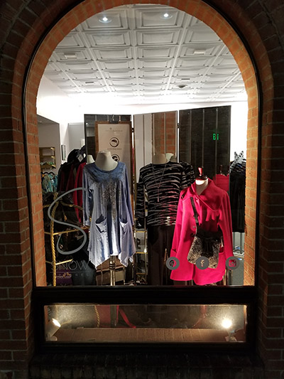 Window Clothing Display